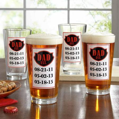 Personalized Bar Glasses (Personalized Established Pub Glass )