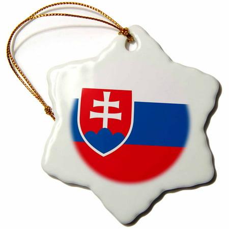 3drose Flag Of Slovakia Slovak White Blue Red Stripes Shield