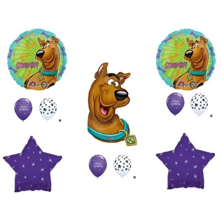 SCOOBY DOO Purple Bones Happy Birthday Party Balloons Decoration Supplies Shaggy Paw Dog - Scooby Doo Birthday Party