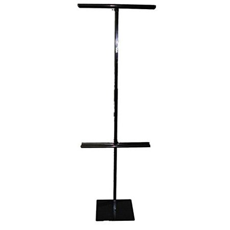 "Classic Economy Adjustable Floor Banner Stand, Black 48"" to 92"""