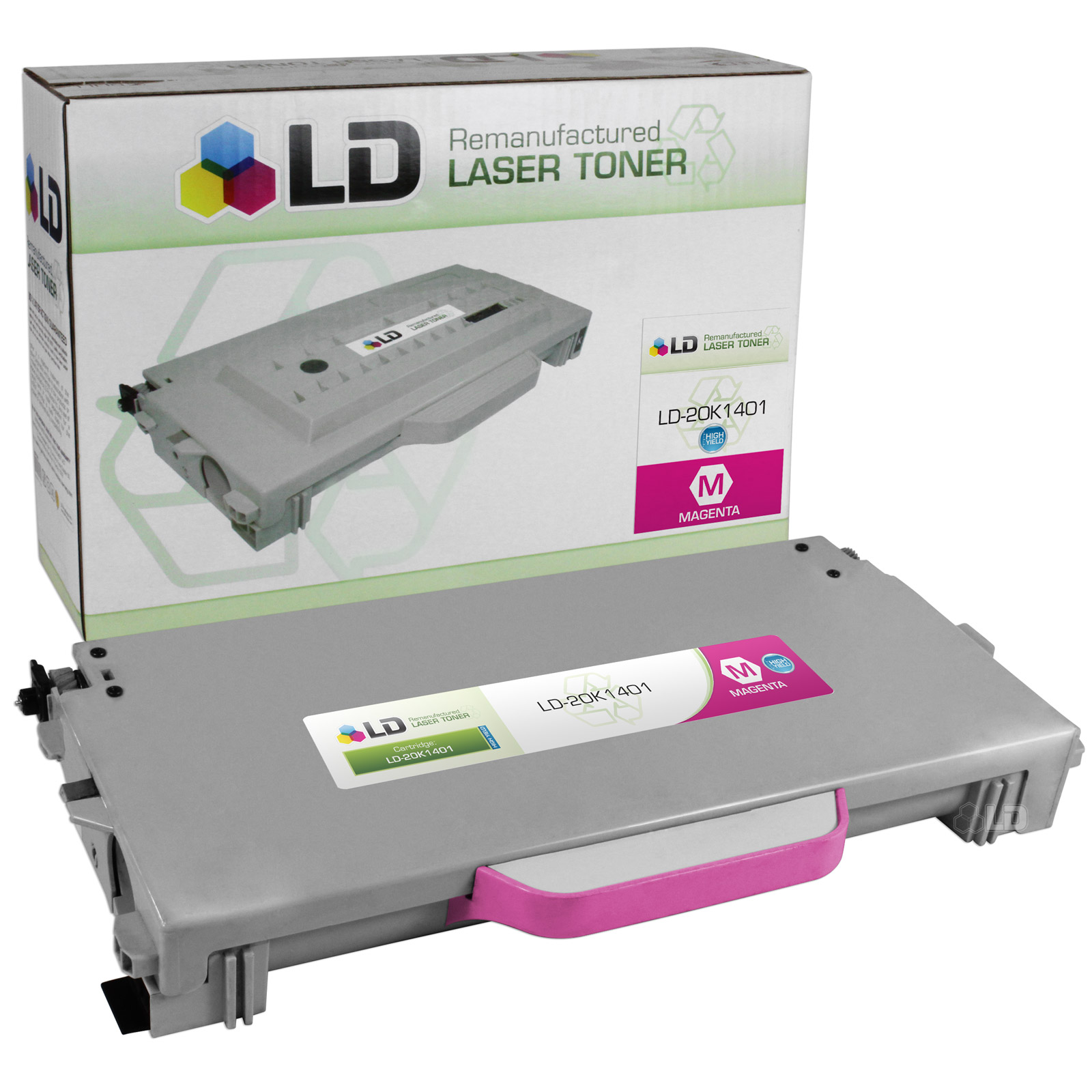 LD Remanufactured High Yield Magenta Laser Toner Cartridge for Lexmark 20K1401