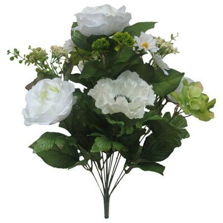 Mixed Cab Rose Bouquet Mxd White