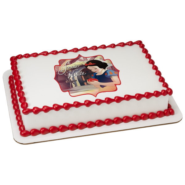 "Disney Princess Snow White 2"" Round Cupcake Sheet Image Cake Topper Edible Birthday Party"