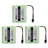 EBL 3-Pack 3.6V 800mAh Replacement Battery For Uniden BT-800 BP-800 BT-905 KX-A36 P-P501 P-P504 Cordless Phone