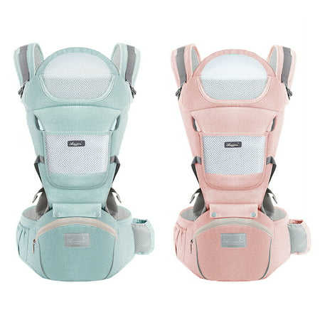 Baby Carrier Convertible Ergonomic Baby Carrier Baby Kangaroo Bag Breathable Front Facing Baby Carrier Infant backpack Pouch Wrap Baby Sling for Newborns,