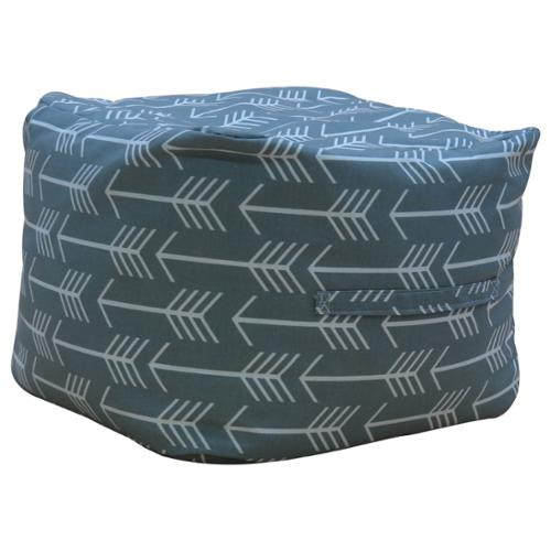 "Premiere Home Arrow Cool Grey 17"" Pouf Footstool"