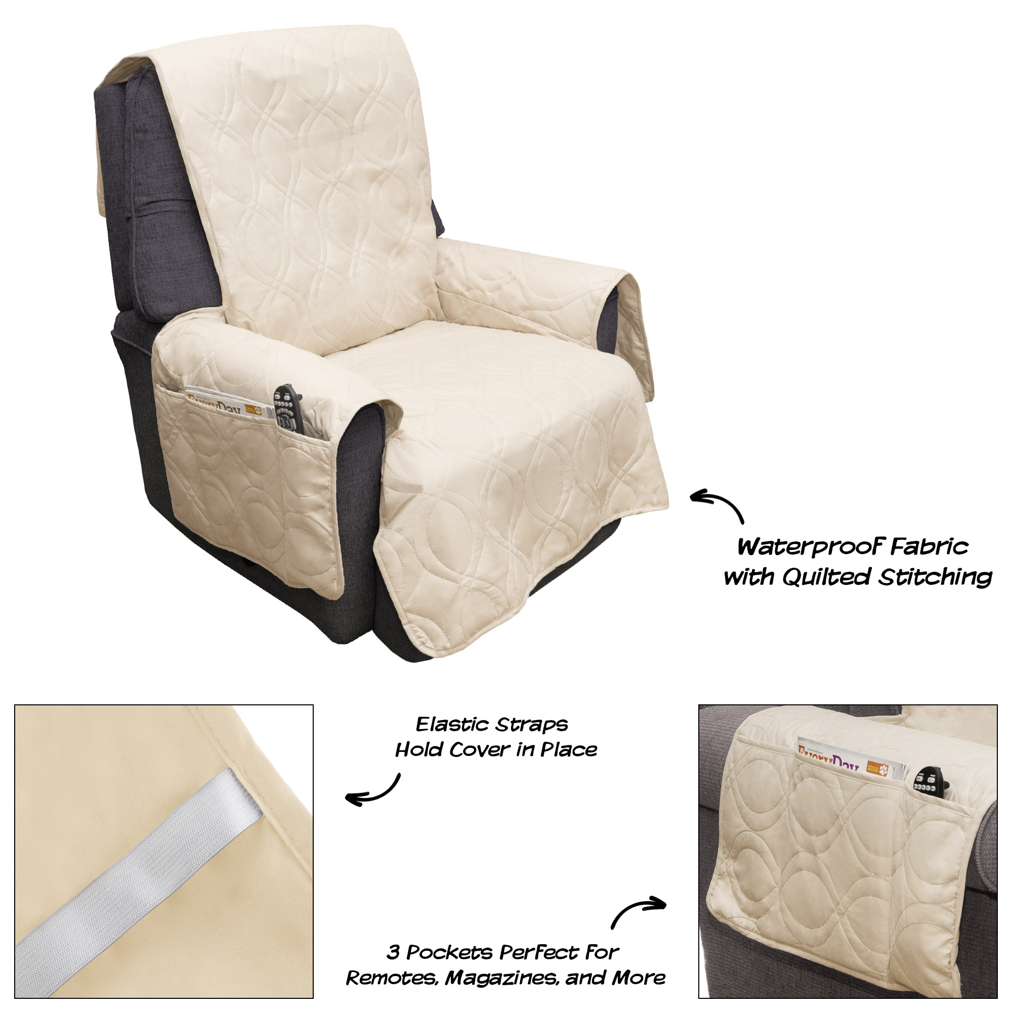 waterproof recliners recliner fascinating nice cream with unique idea sure for soft colour pockets slipcovers covers stretch astonishing chair