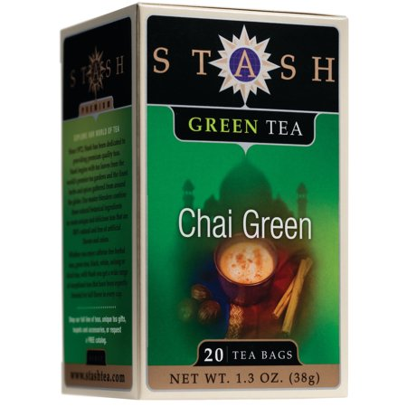 (3 Boxes) Stash Tea Green Chai Tea, 20 Ct, 1.3 Oz
