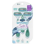 Schick Hydro Silk 5 Sensitive Care Women's Disposable Razors, 3 Ct