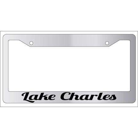 City Of Lake Charles Halloween (Lake Charles Chrome Plastic License Plate Frame City)