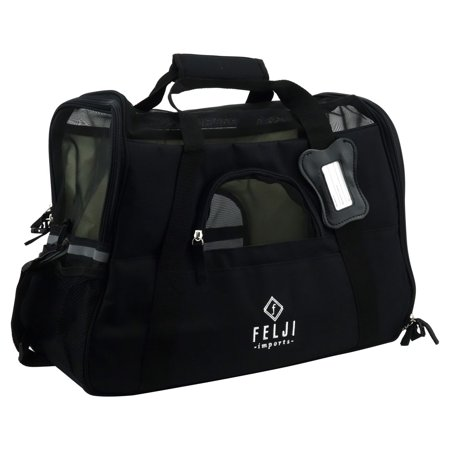Felji Pet Carrier Cat Dog Airline Approved Fleece Bag Medium