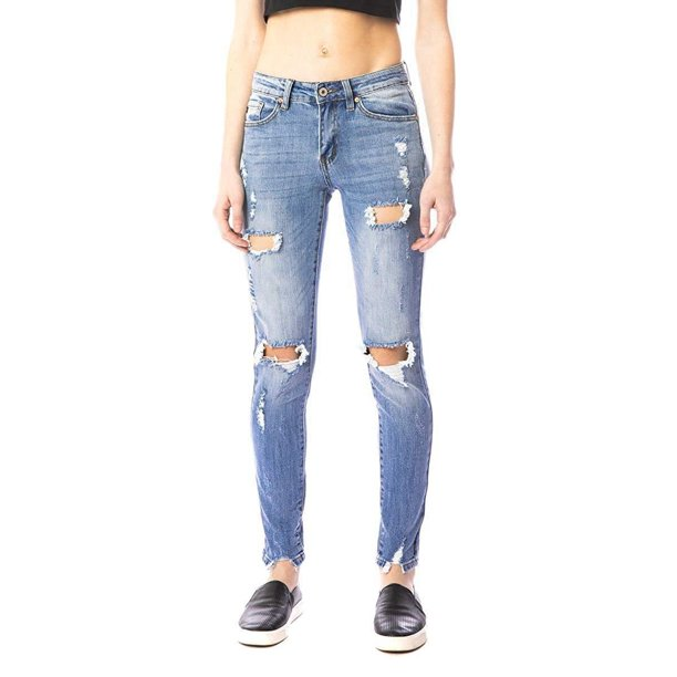 Kancan Kan Can Women S Mid Rise Super Skinny Jeans Kc5055 Walmart Com Walmart Com