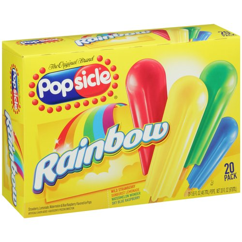 Popsicle Rainbow Pop 1.65 oz Ice Pops, 20 ct