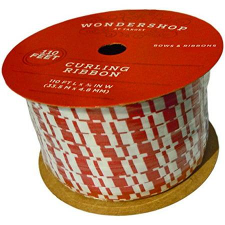 Wonder Shop - Wondershop 36-Yard Christmas Holiday Striped Gift Present Curling Ribbon (1 Roll)
