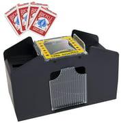 Best Card Shufflers - 4 Deck Card Shuffler with 4 Decks of Review