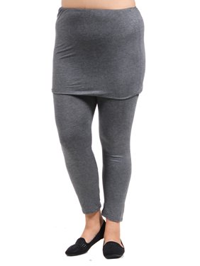 24seven Comfort Apparel Women's Maternity Layered Legging