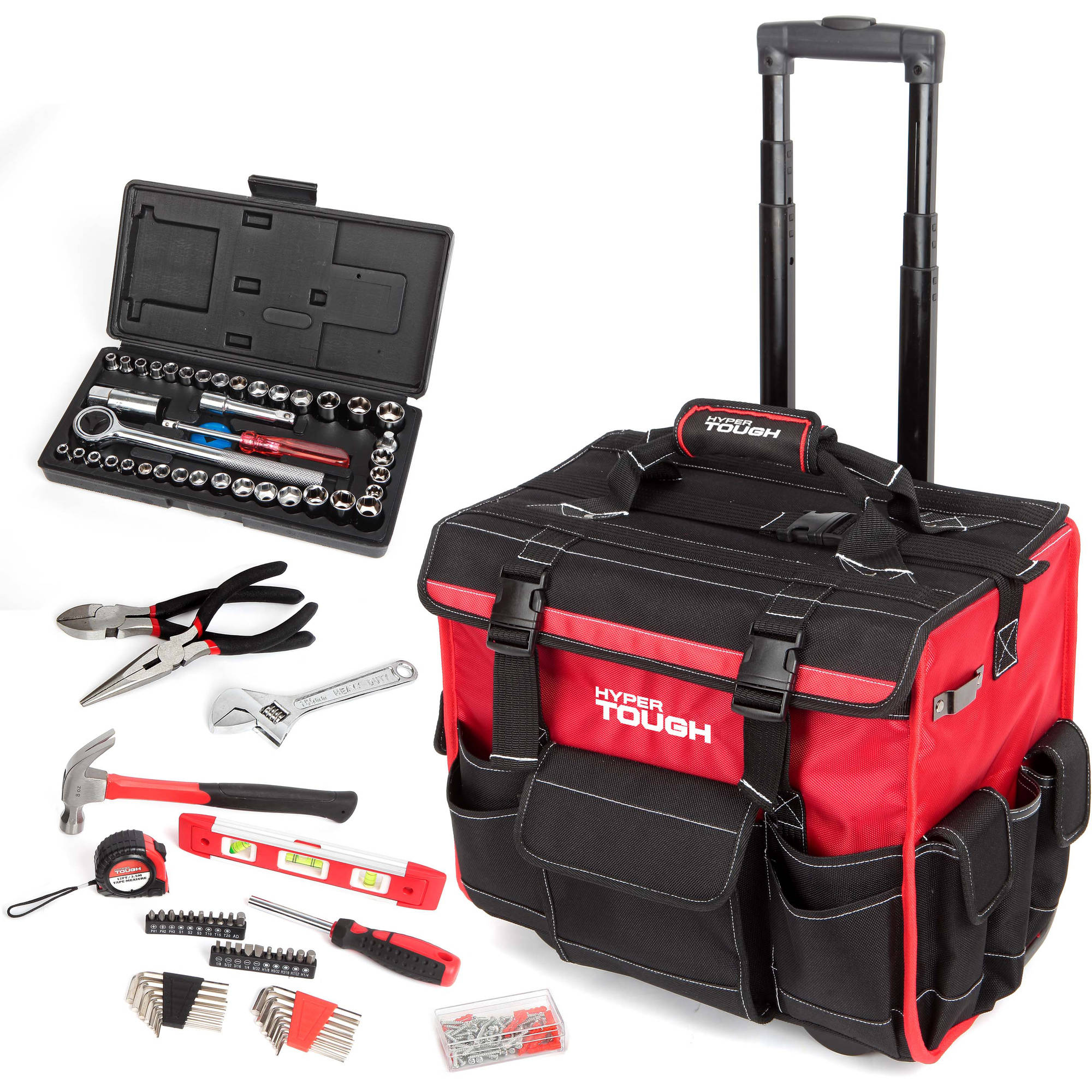 HyperTough 174-Piece Tool Set with Trolley Bag