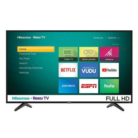"Hisense 43"" Class 1080P FHD LED Roku Smart TV 43H4030F1"