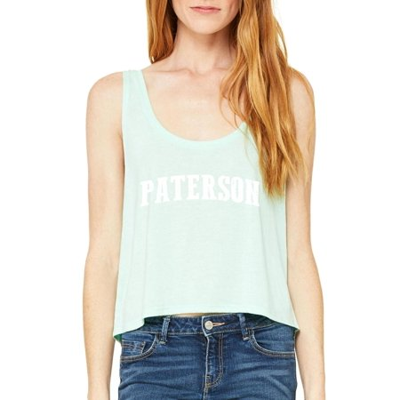 7439cd8a0755 J H I - Paterson NJ New Jersey Flag Newark Map Tigers Home of Princeton  University Women s Boxy Tank Top Clothes - Walmart.com