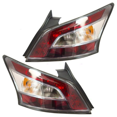 Pair Set Taillights Tail Lamps Replacement for Nissan Maxima 26555-9DA0B - Nissan Maxima Tail Lights Lamps