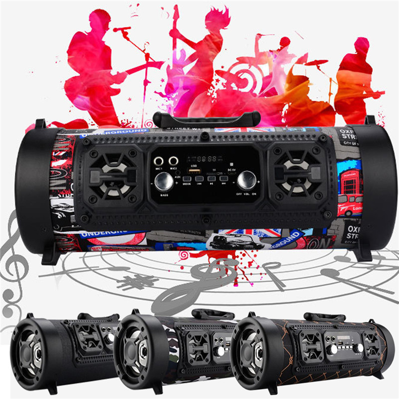 360° FM Portable bluetooth Speaker Wireless Stereo Loud Super Bass Sound Aux USB TF ❤HI-FI❤Outdoor/Indoor Use❤4 COLOR!❤