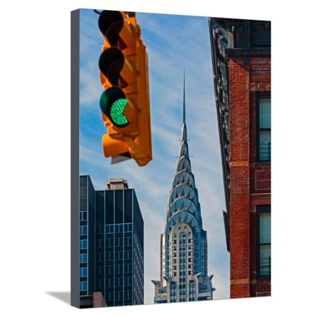 New York City, New York State, United States of America. The Chrysler Building. An Art Deco styl... Stretched Canvas Print Wall