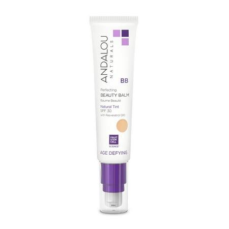 Andalou Naturals Age Defying Skin Perfecting Beauty Balm SPF 30, Natural Tint, 2