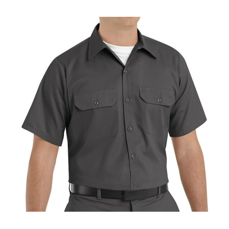 Red Kap Mens Short Sleeve Utility Uniform Shirt