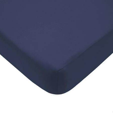Pima Percale Collection - American Baby Company 100% Cotton Percale Fitted Crib Sheet, Navy