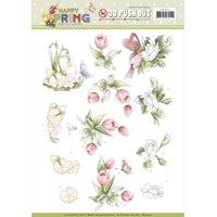 Find It Precious Marieke Happy Spring Punchout Sheet-Happy Flowers