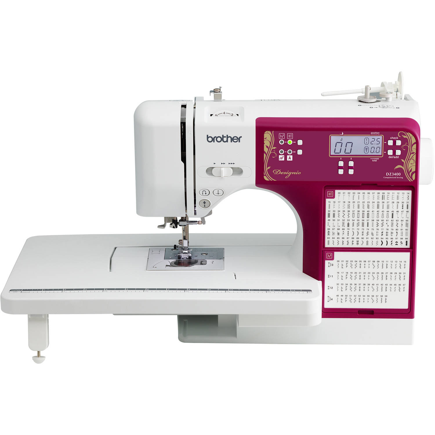 Designio Series by Brother DZ3400 270-Stitch Computerized Sewing & Quilting Machine