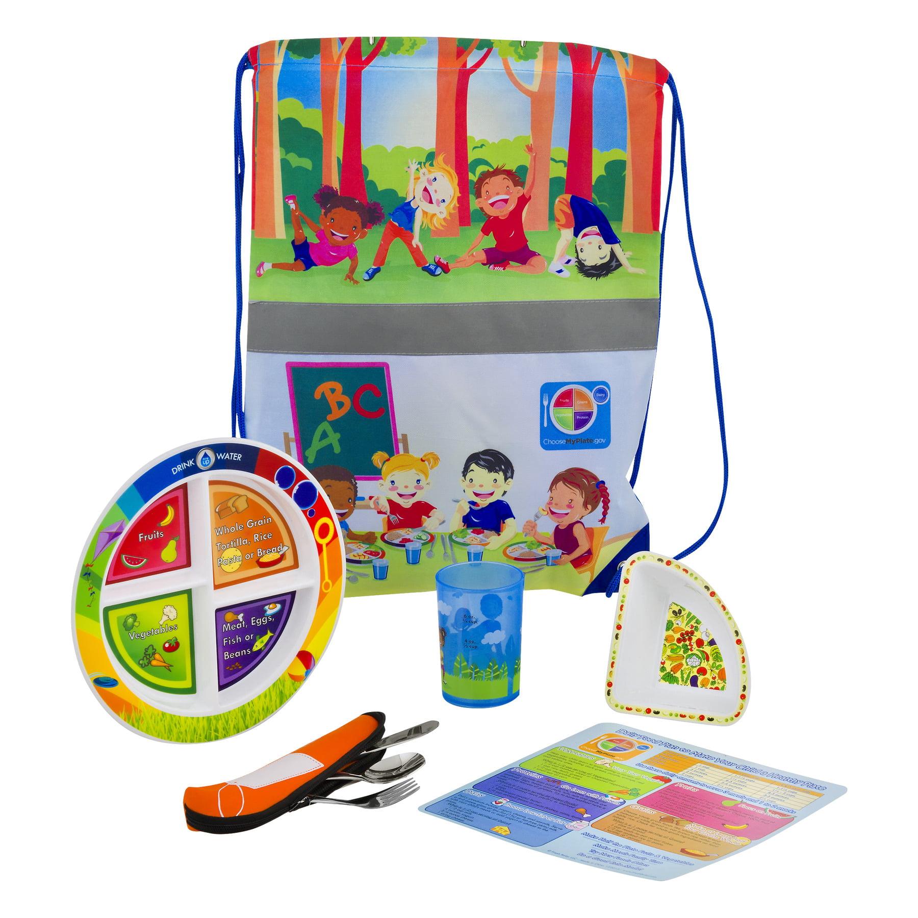 Fresh Baby Kid's MyPlate Dinnerware Set, 1.0 CT