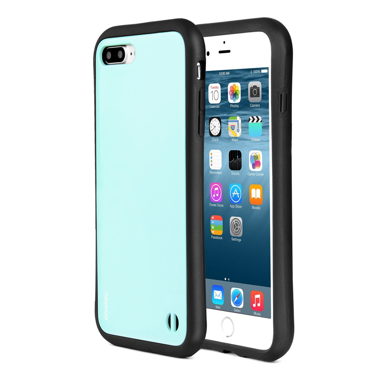 Pawtec Padded iPhone 8 Plus / 7 Plus Shock Absorbing Glossy Finish Scratch Resistant Protective Case