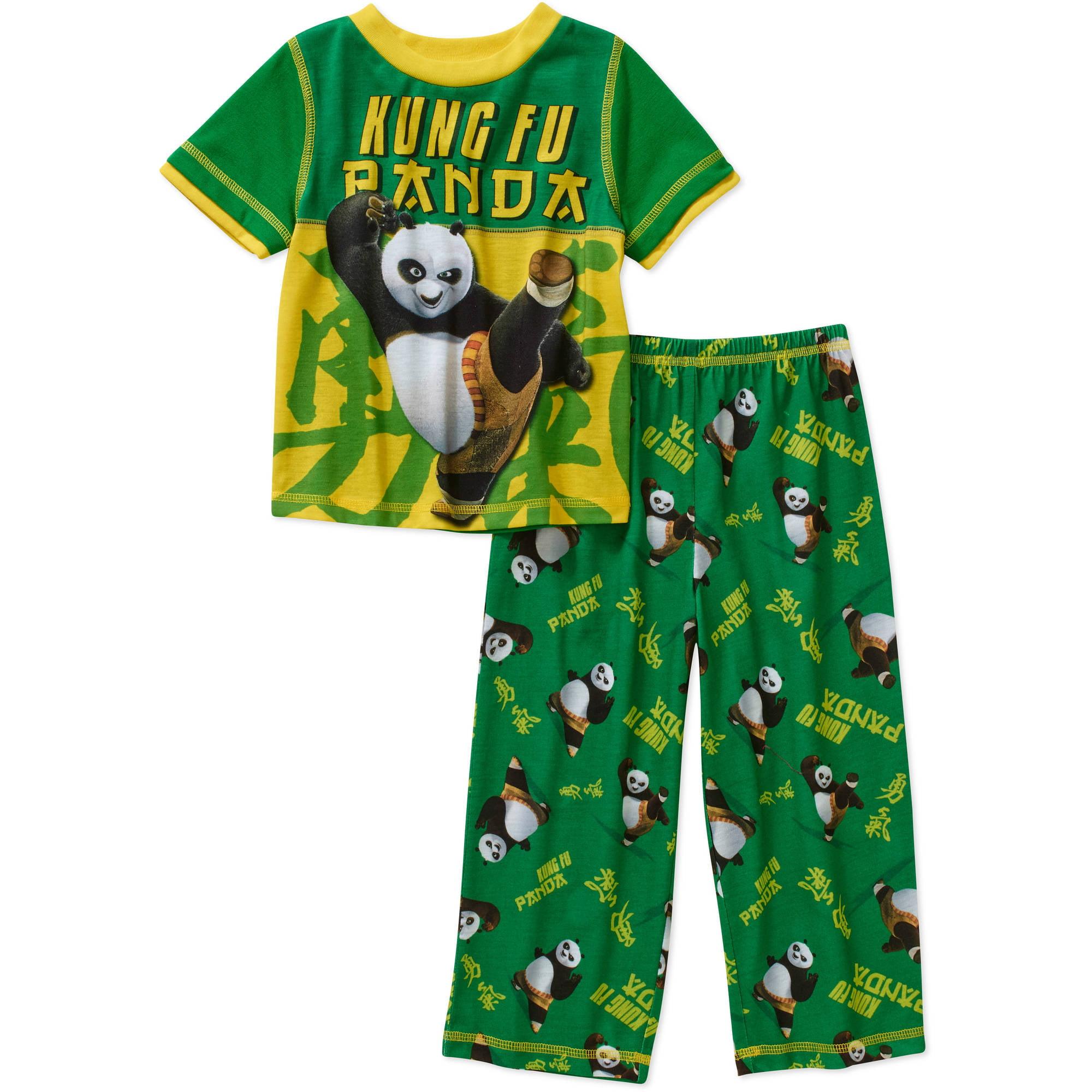 Kung Fu Panda Toddler Boy Short Sleeve Pajama Set - Walmart.com