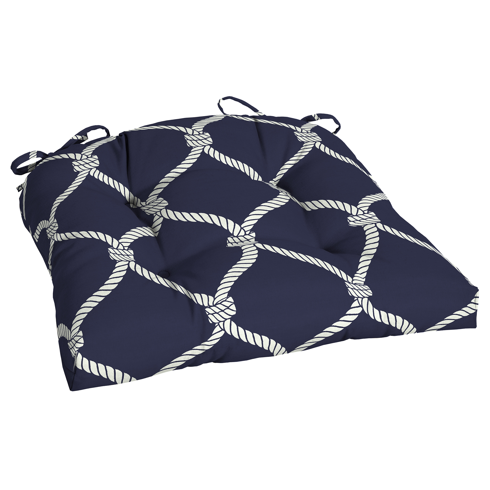 Better Homes and Gardens Nautical Rope Outdoor Wicker Seat Cushion