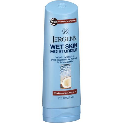 Jergens Wet Skin Moisturizer with Refreshing Coconut Oil, 10 Fl Oz