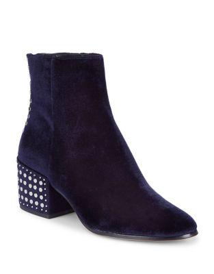 Mazey Studded Velvet Booties