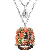 Men's Ed Hardy Horse in Fire Necklace on a 24inch  Chain