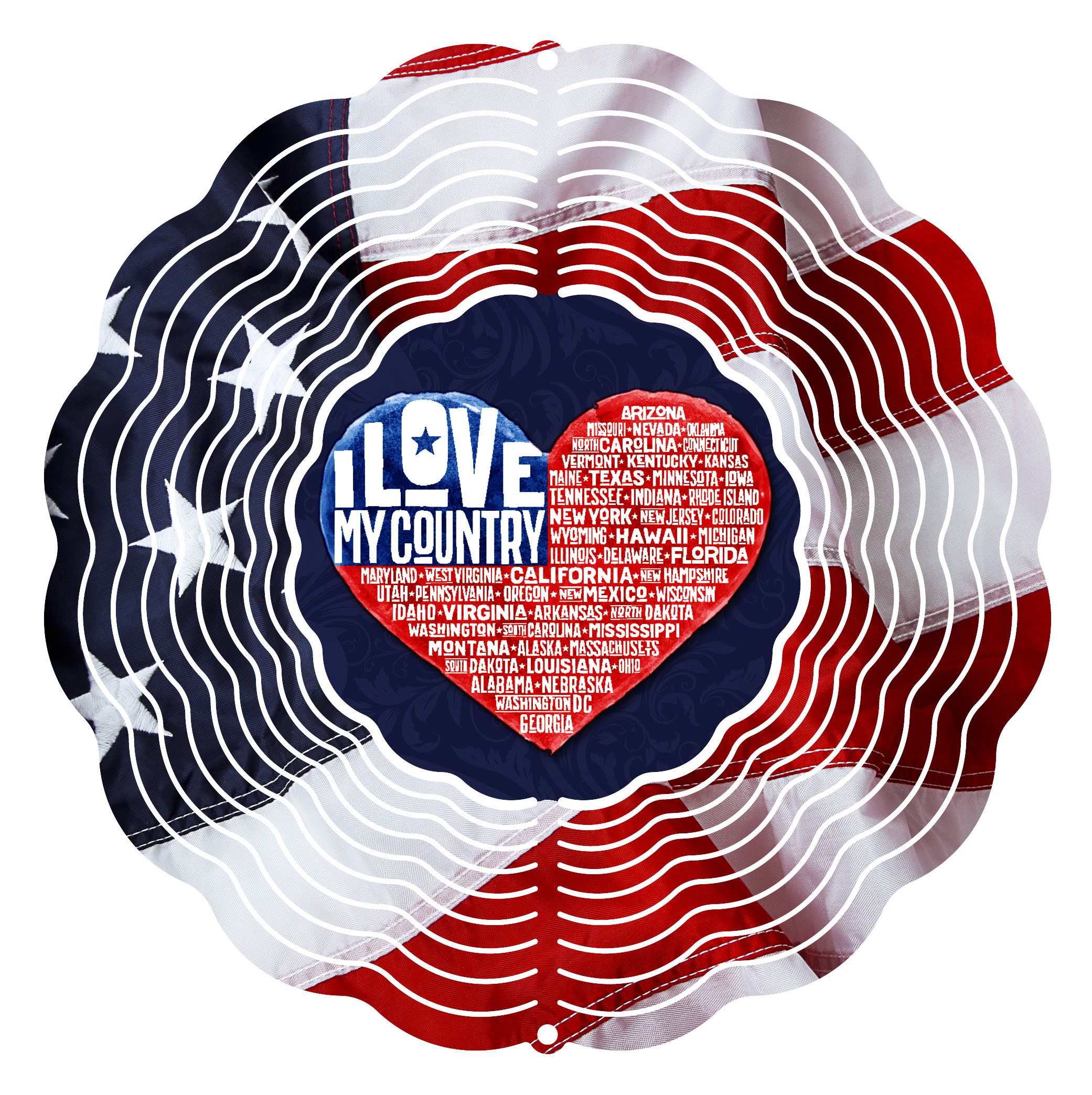 Next Innovations 10 in. Love My Country Wind Spinner by Next Innovations