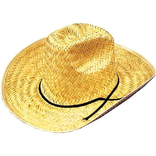 Straw Cowboy Hat Adult Halloween Accessory
