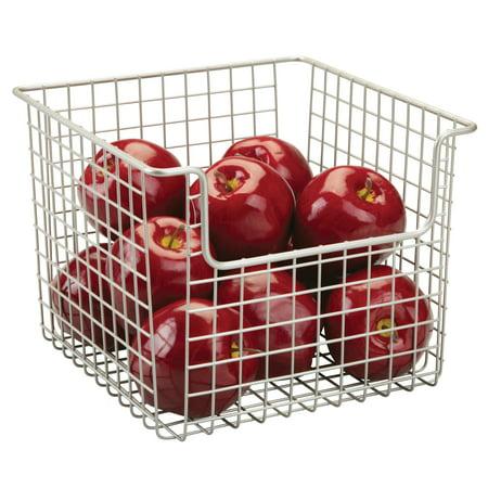InterDesign Classico Open Wire Medium Storage Basket, Matte Satin ()