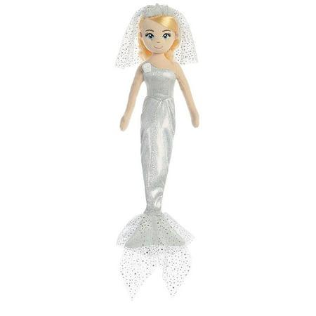 Bride Sea Shimmers Mermaid 18 Inch - stuffed Animal by Aurora Plush (33249) - Mermaid Stuff For Kids