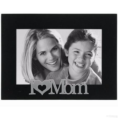I  HEART  MOM Ebony-Black keepsake frame