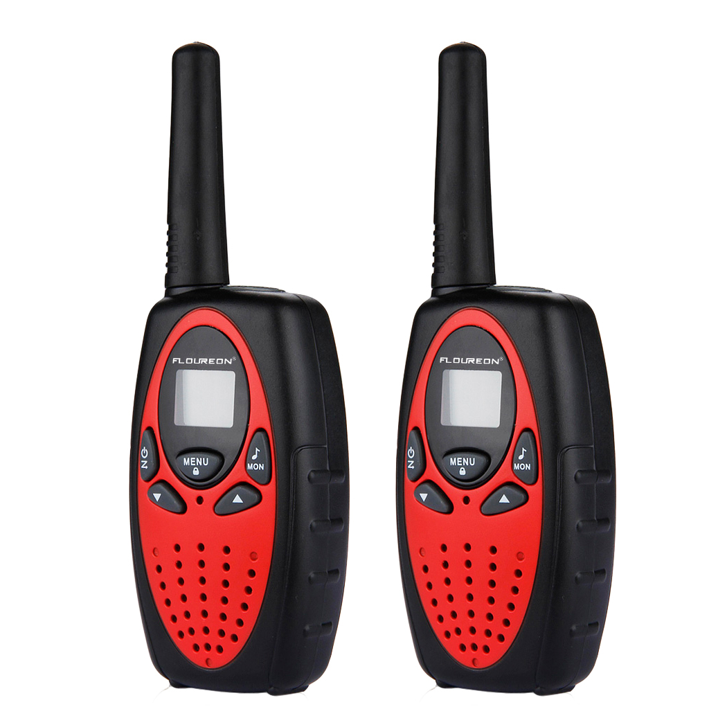 FLOUREON 2 Pack 22 Channel FRS/GMRS 2 Way Radios Up to 3000M/1.9MI Range (MAX 5000M/3.1MI) Handheld Walkie Talkies for Outdoor Adventure (Red)