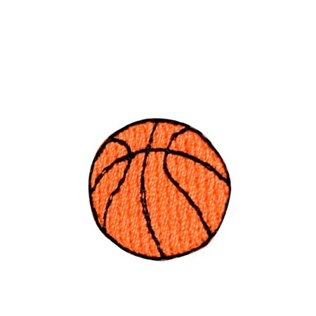 Mini/Small Basketball - Iron on Applique/Embroidered Patch