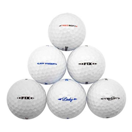 1e1dffb28f Assorted White Recycled Golf Balls - Pack of 48 - image 1 of 1 ...