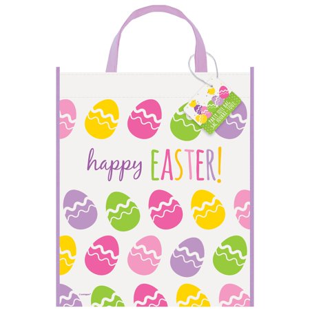 Large Plastic Cute Easter Goodie Bag, 13 x 11 in, 1ct - Thanksgiving Goodie Bags