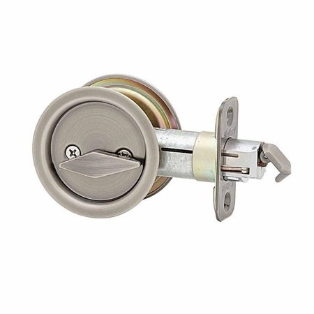 Kwikset 335 Round Privacy Bed/Bath Pocket Door Lock