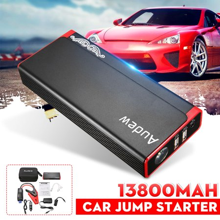 Audew Heavy Duty Jump Starter, 13800mAh Portable Car Jumper Starter, Battery Booster 500A, Battery Jumper with Aluminum Alloy Shell & Upgraded Smart Jump Cable,