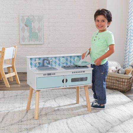 KidKraft Wooden Play & Put Away Wooden Kitchen Play Set Now $34.99 (Was $79.99)